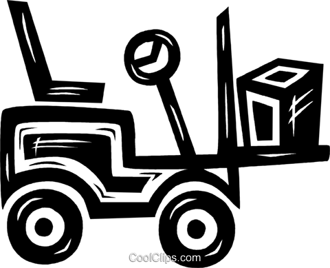 forklift Royalty Free Vector Clip Art illustration vc026570