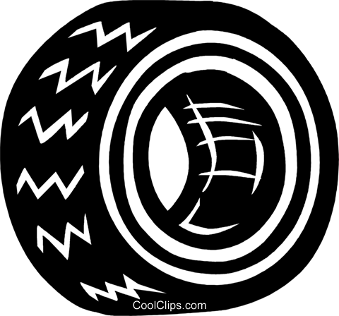 tire Royalty Free Vector Clip Art illustration vc026572