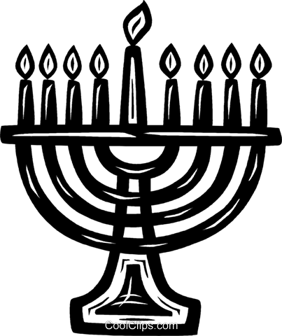 menorah Royalty Free Vector Clip Art illustration vc026575