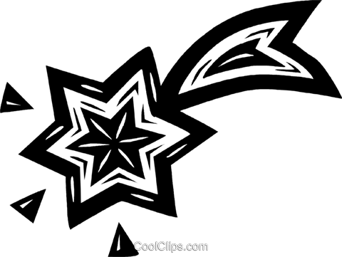 shooting stars Royalty Free Vector Clip Art illustration vc026577