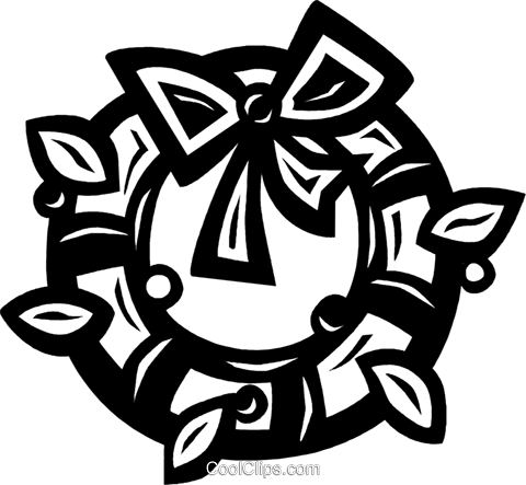 Christmas wreath Royalty Free Vector Clip Art illustration vc026578