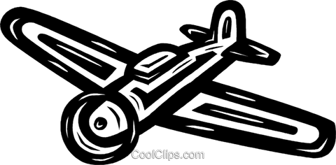 airplane Royalty Free Vector Clip Art illustration vc026580