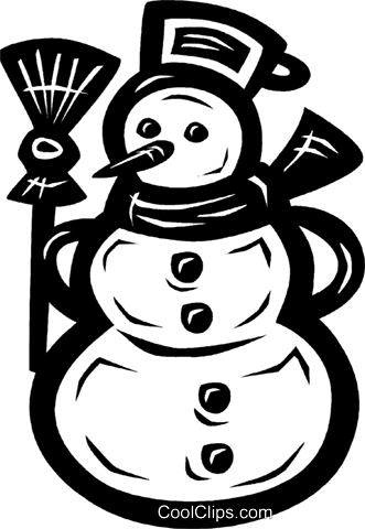snowman Royalty Free Vector Clip Art illustration vc026585