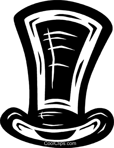 top hat Royalty Free Vector Clip Art illustration vc026589