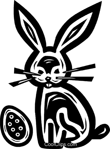Easter bunny Royalty Free Vector Clip Art illustration vc026591