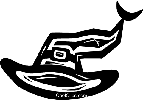witches hat Royalty Free Vector Clip Art illustration vc026594