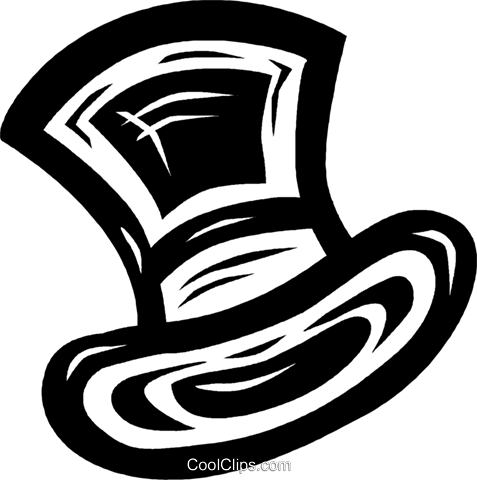 top hat Royalty Free Vector Clip Art illustration vc026597