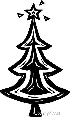 Christmas tree Royalty Free Vector Clip Art illustration vc026604