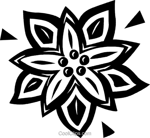 poinsettia Royalty Free Vector Clip Art illustration vc026606