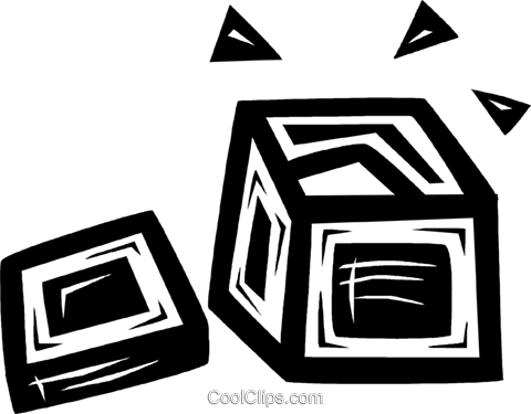 shipping crate Royalty Free Vector Clip Art illustration vc026617