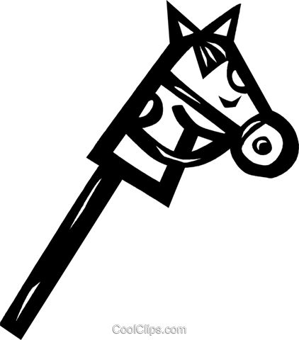 hobby horse Royalty Free Vector Clip Art illustration vc026623