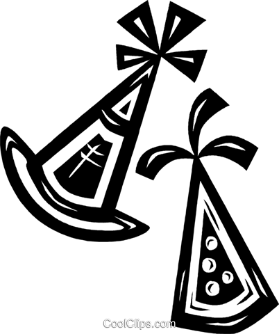 party hats Royalty Free Vector Clip Art illustration vc026624