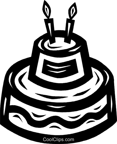 birthday cakes Royalty Free Vector Clip Art illustration vc026633