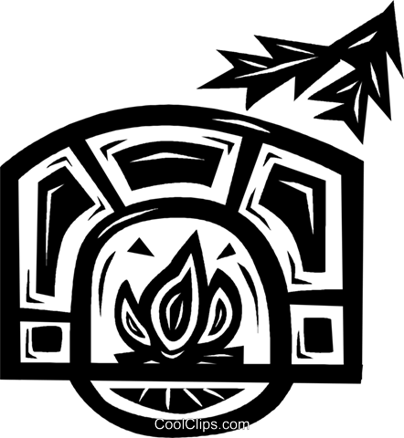 fireplace Royalty Free Vector Clip Art illustration vc026634