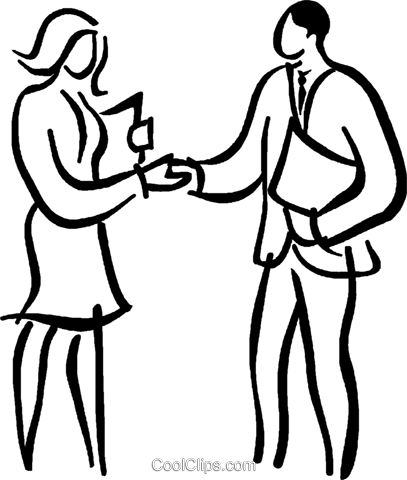 Business people shaking hands Royalty Free Vector Clip Art illustration vc026650