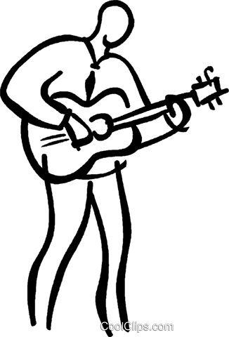 guitar player Royalty Free Vector Clip Art illustration vc026652