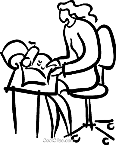 secretary typing a letter Royalty Free Vector Clip Art illustration vc026655