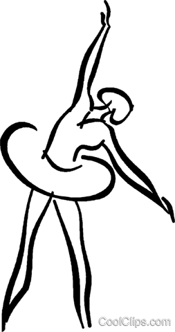 ballerina Royalty Free Vector Clip Art illustration vc026660