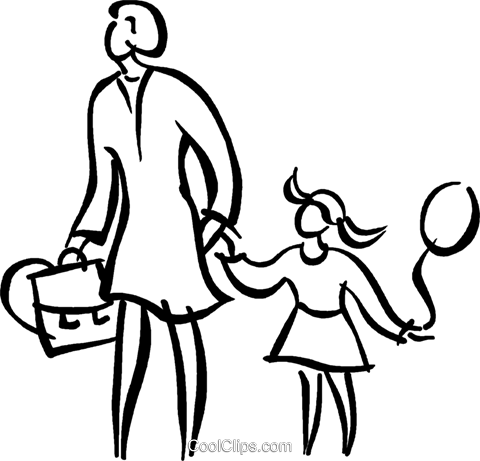 woman with a child Royalty Free Vector Clip Art illustration vc026662