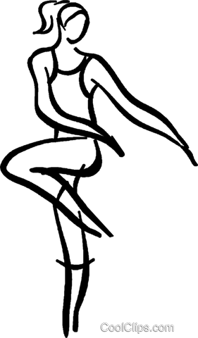 ballet dancer Royalty Free Vector Clip Art illustration vc026665