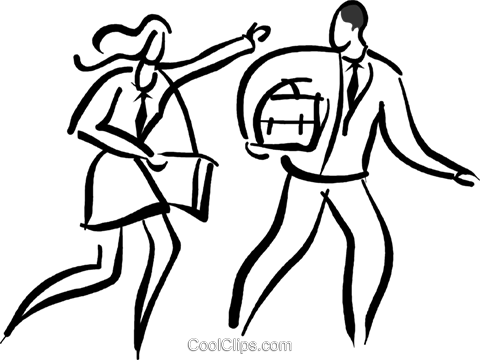 couple in a hurry Royalty Free Vector Clip Art illustration vc026676