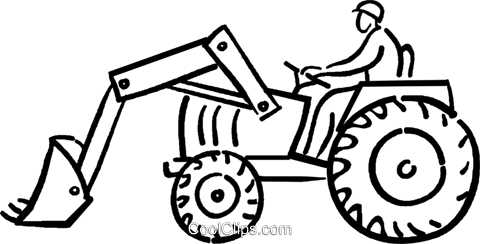 person on a tractor Royalty Free Vector Clip Art illustration vc026693