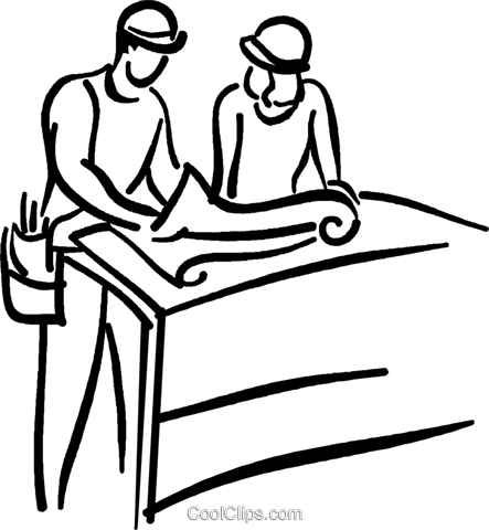 construction foremen Royalty Free Vector Clip Art illustration vc026702
