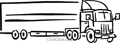 transport truck Royalty Free Vector Clip Art illustration vc026715