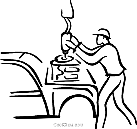 automotive worker Royalty Free Vector Clip Art illustration vc026727