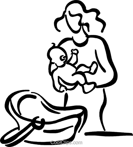mother with a baby Royalty Free Vector Clip Art illustration vc026757