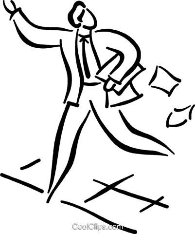 businessman hailing a cab Royalty Free Vector Clip Art illustration vc026787