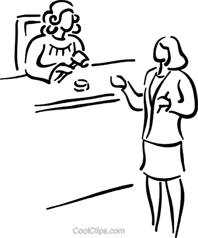 lawyer presenting her case Royalty Free Vector Clip Art illustration vc026809