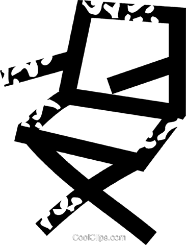 directors chair Royalty Free Vector Clip Art illustration vc026871