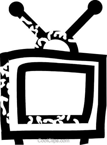 television Royalty Free Vector Clip Art illustration vc026876