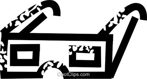3D glasses Royalty Free Vector Clip Art illustration vc026878