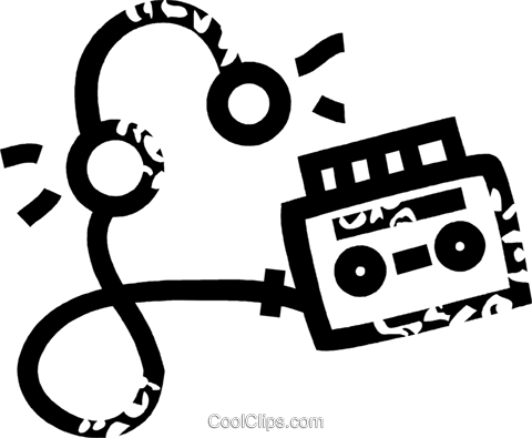 personal stereo Royalty Free Vector Clip Art illustration vc026881