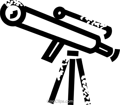 telescope Royalty Free Vector Clip Art illustration vc026883