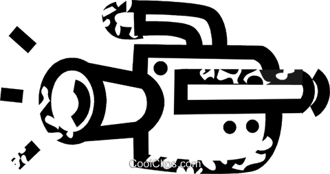 video camera Royalty Free Vector Clip Art illustration vc026885