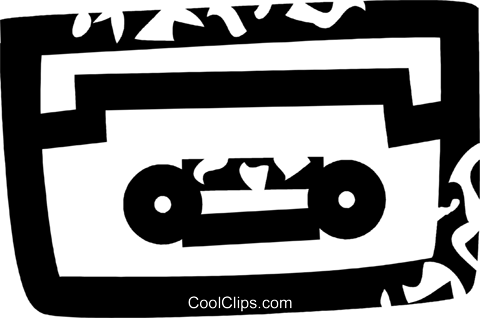 tape cassette Royalty Free Vector Clip Art illustration vc026892