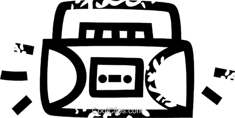 ghetto blaster Royalty Free Vector Clip Art illustration vc026894