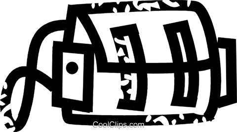 camera bag Royalty Free Vector Clip Art illustration vc026897