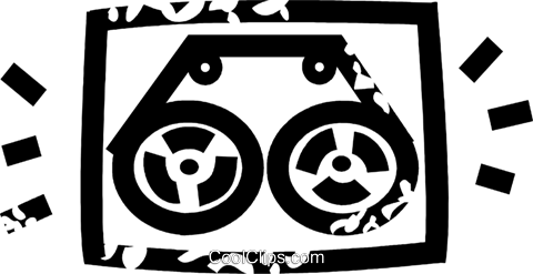 reel to reel tape player Royalty Free Vector Clip Art illustration vc026902