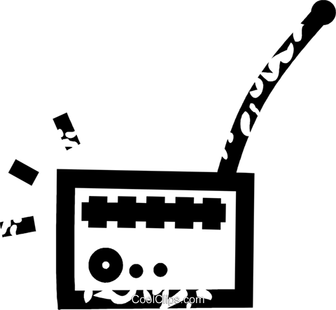 radio Royalty Free Vector Clip Art illustration vc026906