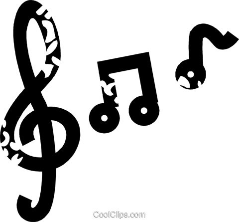 musical notes Royalty Free Vector Clip Art illustration vc026907