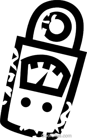 electronic meter Royalty Free Vector Clip Art illustration vc026908