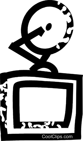 TV and satellite dish Royalty Free Vector Clip Art illustration vc026910