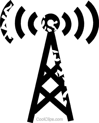 radio tower Royalty Free Vector Clip Art illustration vc026923