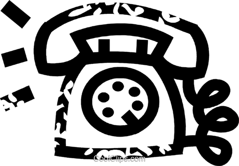 telephone Royalty Free Vector Clip Art illustration vc026928