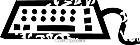 keyboard Royalty Free Vector Clip Art illustration vc026930