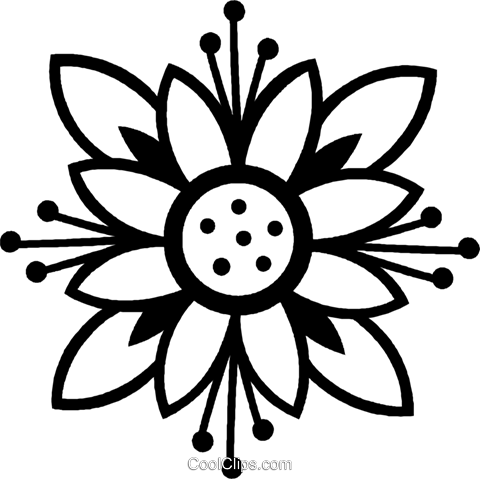 decorative floral design Royalty Free Vector Clip Art illustration vc026949